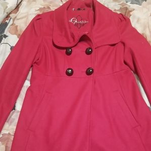 Guess Small Pink Peacoat